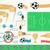 futebol · bandeira · infográficos · ícones · pena · jogador - foto stock © hayaship