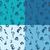 azul · aves · família · bebê · crianças · abstrato - foto stock © helenstock