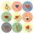 gelukkig · valentijnsdag · iconen · eenvoudige · collectie · bruiloft - stockfoto © HelenStock