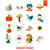 establecer · otono · iconos · simple - foto stock © HelenStock