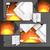 оранжевый · бизнеса · листовка · брошюра · дизайна · Flyer - Сток-фото © helenstock