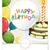 félicitations · gâteau · bannière · carte · postale · carte · de · vœux · gâteau · au · chocolat - photo stock © helenstock