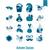 vektör · stil · ayarlamak · hayvan · web · simgeleri · yalıtılmış - stok fotoğraf © helenstock