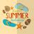 summer beach background stock photo © helenstock
