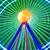 beautiful long exposure picture of a ferris wheel rotating vivid colors stock photo © herraez