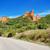 mountain road in las medulas ancient roman mines and natural park in leon spain stock photo © herraez