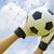 ゴールキーパー · 中古 · 手 · ボール · 一致 · ゲーム - ストックフォト © hin255