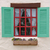 vintage window on white cement wall stock photo © hinnamsaisuy