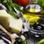 оливкового · масла · свежие · базилик · чеснока · старые - Сток-фото © hitdelight
