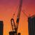 Dubai · skyline · frame · gebouw · zonsondergang · panoramisch - stockfoto © hitdelight