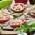 pomidorów · bazylia · czosnku · żywności · pomarańczowy · Sałatka - zdjęcia stock © hitdelight