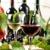üzüm · şarap · natürmort · fotoğraf · iki · şişe - stok fotoğraf © hitdelight