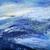 grunge · zee · schilderij · golven · blauwe · hemel · stijl - stockfoto © hitdelight