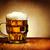 glas · houten · tafel · vochtig · schuim · bar - stockfoto © hitdelight