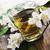 chá · verde · copo · bule · mesa · de · madeira · folha · jardim - foto stock © hitdelight