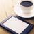 siyah · kahve · fincan · kahve · molası · dizüstü · bilgisayar · defter - stok fotoğraf © hitdelight