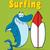 bonitinho · azul · tubarão · mascote - foto stock © hittoon