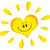 smiling sun heart cartoon mascot character in gradient stock photo © hittoon
