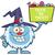 sevimli · küçük · karikatür · maskot · karakter · şapka · işaret - stok fotoğraf © hittoon