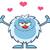 gülen · küçük · karikatür · maskot · karakter · açmak · silah - stok fotoğraf © hittoon