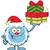 glimlachend · weinig · cartoon · mascotte · karakter · illustratie · geïsoleerd - stockfoto © hittoon