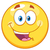 желтый · Cartoon · лице · характер · языком · изолированный - Сток-фото © hittoon