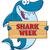 feliz · azul · tubarão · mascote - foto stock © hittoon