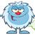 little yeti cartoon mascot character farting stock photo © hittoon