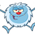 little yeti cartoon mascot character jumping up with open arms stock photo © hittoon