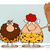 caveman couple cartoon mascot characters with red hair woman holding a club stock photo © hittoon
