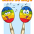colorful mexican maracas cartoon mascot characters singing stock photo © hittoon