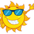 Smiling Sun Cartoon Mascot Character With Sunglasses Waving For Greeting stock photo © hittoon