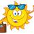 cute · estate · sole · occhiali · da · sole · faccia · occhi - foto d'archivio © hittoon