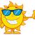 cute · grappig · zon · zonnebril · gezicht · ogen - stockfoto © hittoon