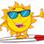 sevimli · komik · güneş · güneş · gözlüğü · yüz · gözler - stok fotoğraf © hittoon