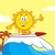 surfer sun cartoon mascot character riding a wave and showing thumb up stock photo © hittoon