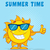 smiling sun cartoon mascot character with sunglasses giving the thumbs up stock photo © hittoon
