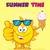 boldog · rajz · citromsárga · nap · karakter · mosolyog - stock fotó © hittoon
