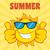 feliz · sol · mascote · óculos · de · sol - foto stock © hittoon