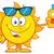 cute · sole · occhiali · da · sole · mano · occhi · faccia - foto d'archivio © hittoon