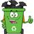 feliz · verde · reciclar · aislado - foto stock © hittoon