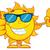 feliz · garrafa · protetor · solar · mascote · sol - foto stock © hittoon