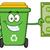 smiling green recycle bin cartoon mascot character holding a dollar bill stock photo © hittoon