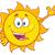 glimlachend · zon · cartoon · mascotte · karakter · zonnebril - stockfoto © hittoon