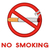 no smoking red sign with cigarette with text stock photo © hittoon