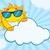 mosolyog · nyár · nap · napszemüveg · mogorva · felhő - stock fotó © hittoon