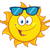 summer sun cartoon mascot character with sunglasses stock photo © hittoon