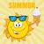 aranyos · nap · rajzfilm · kabala · karakter · napszemüveg · tart - stock fotó © hittoon