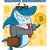 sorridente · negócio · tubarão · mascote · terno - foto stock © hittoon