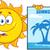 sorridente · verão · sol · mascote · óculos · de · sol - foto stock © hittoon